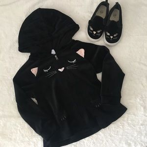 Gap Toddler Girl Cat Peplum Hoodie & Sneakers
